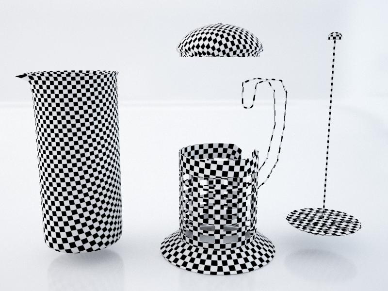french teaglass 3d model max obj 213050
