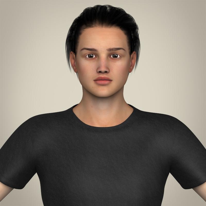 Realistic Handsome Teenage Boy 3d model 3ds max fbx c4d lwo lws lw ma mb  obj 213064