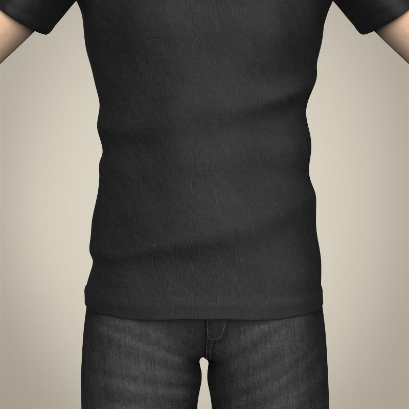 realistic handsome teenage boy 3d model 3ds max fbx c4d lwo ma mb texture obj 213066