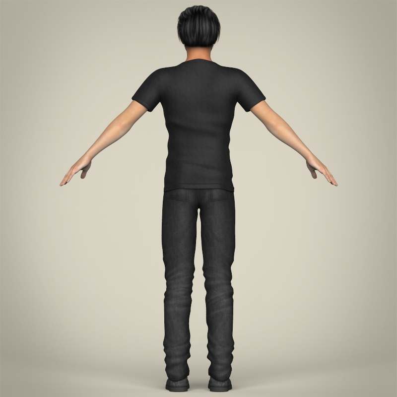 Realistic Handsome Teenage Boy 3D Model – Buy Realistic ...