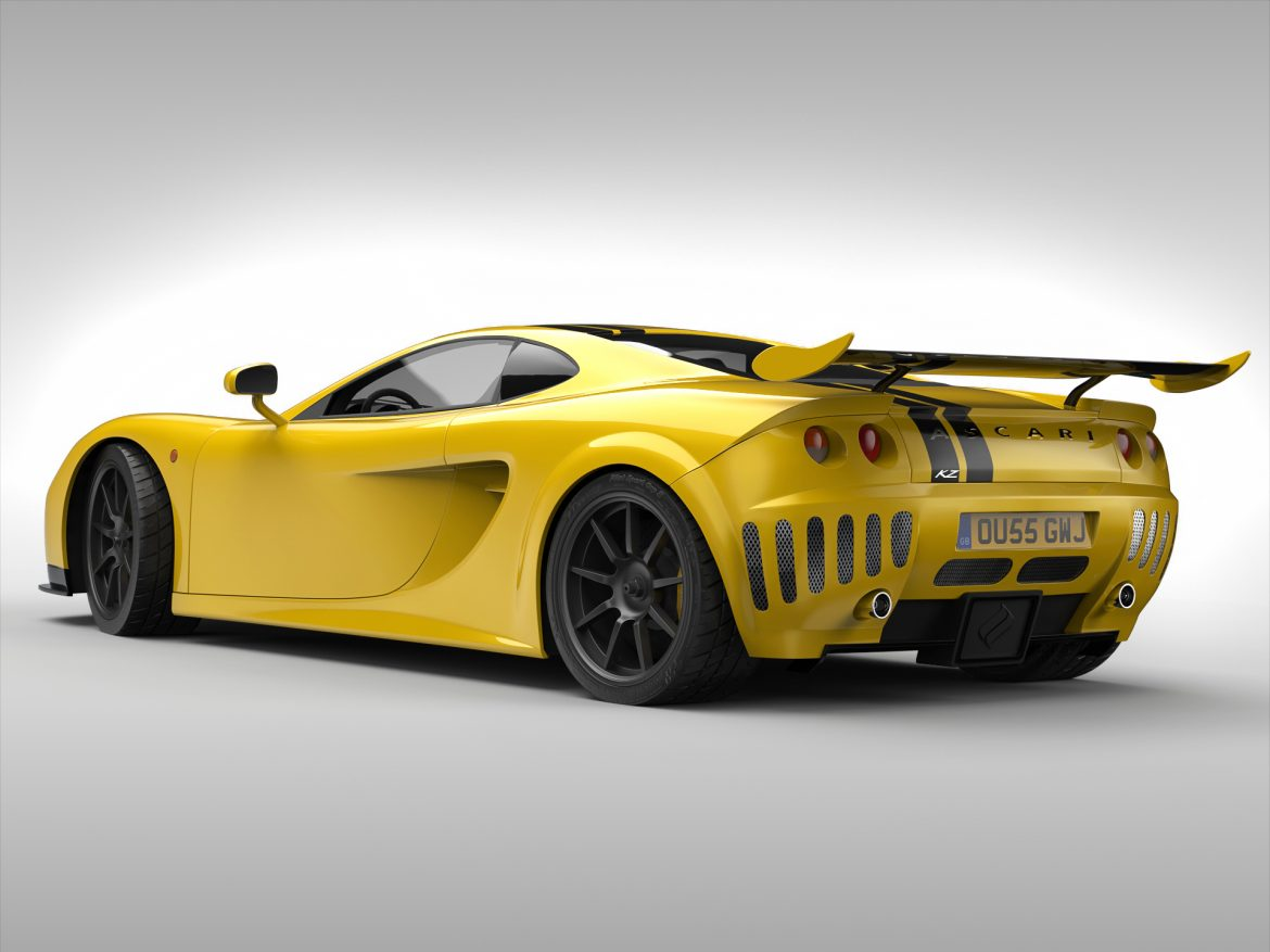 ascari a10 3d model 3ds max fbx obj 213105