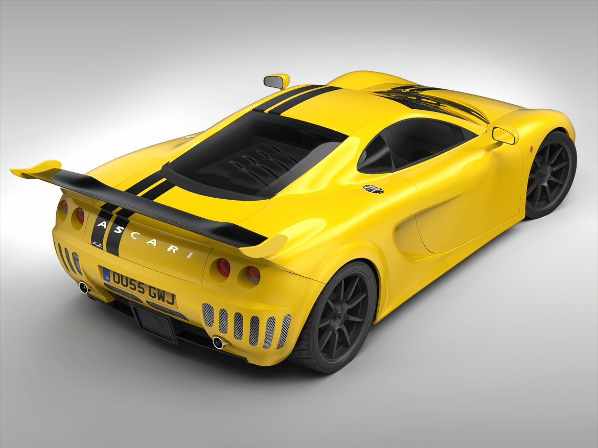ascari a10 3d model 3ds max fbx obj 213106