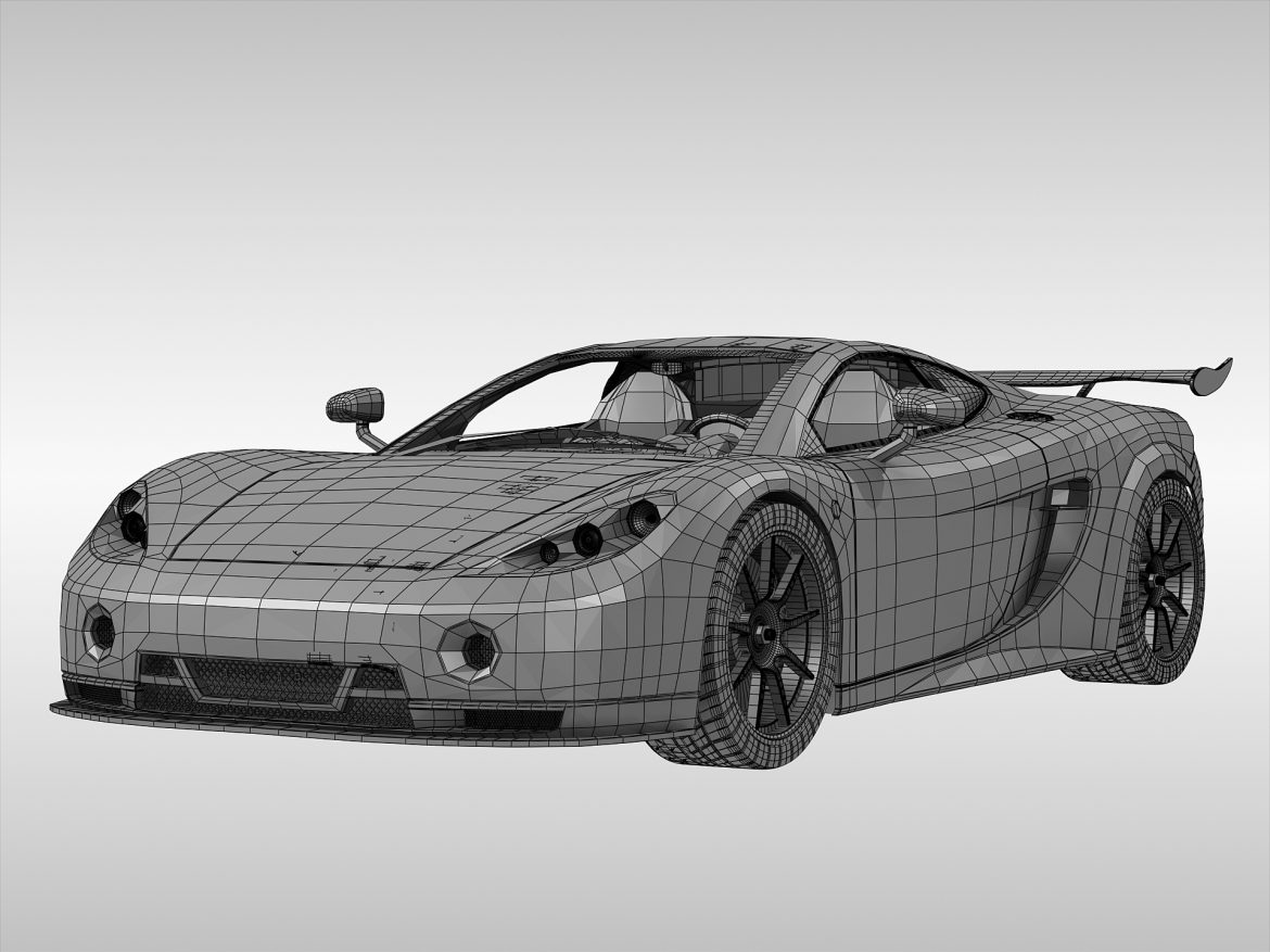 ascari a10 3d model 3ds max fbx obj 213111