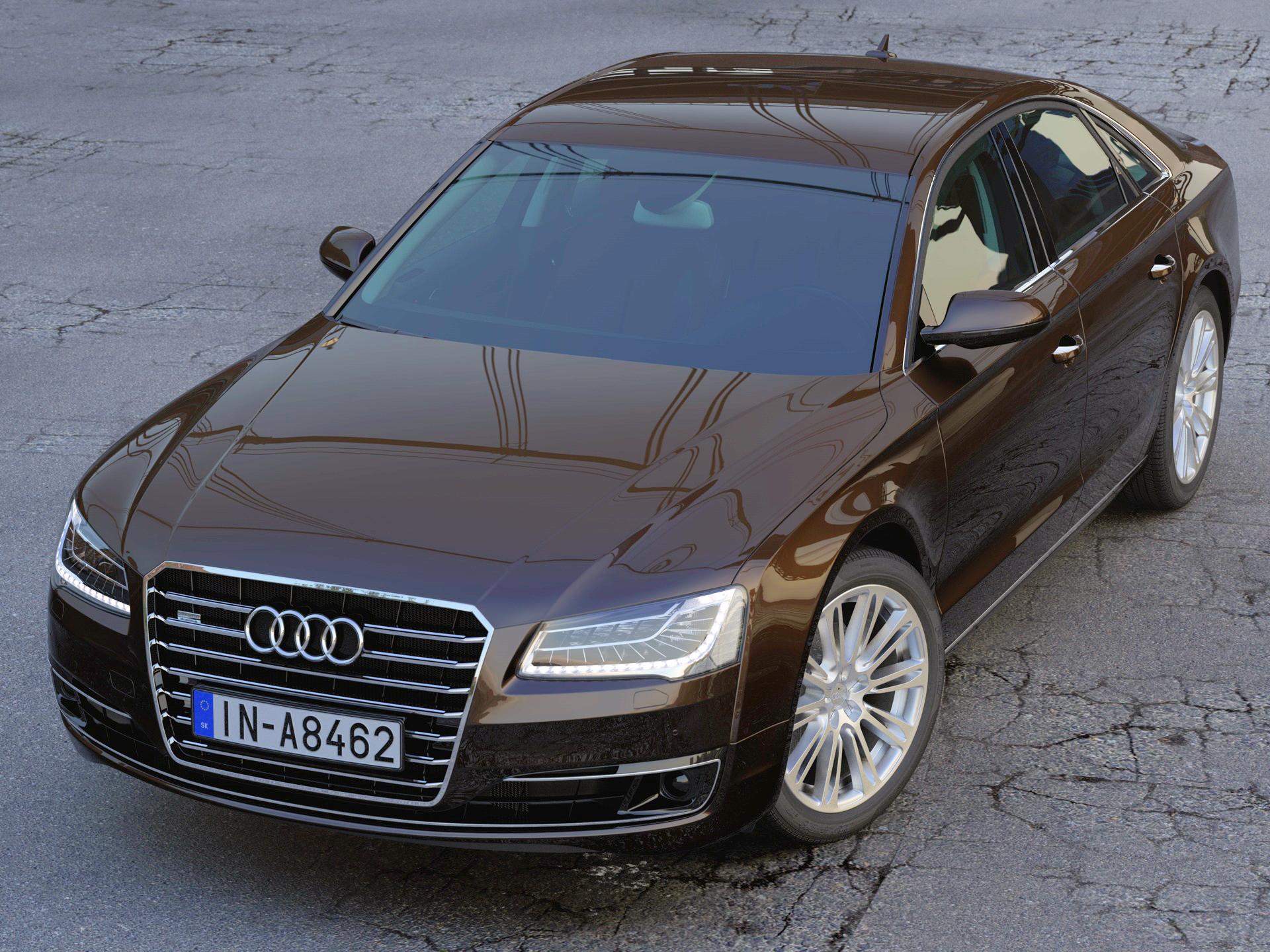 Audi A8 2014 3d model 3ds max fbx c4d obj 213114