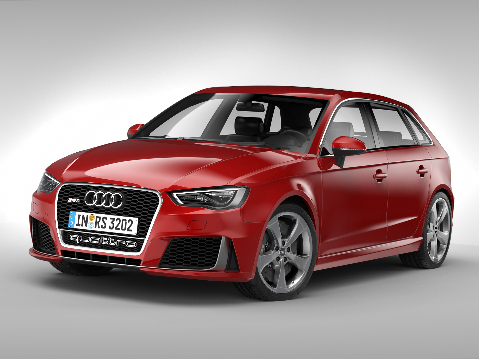 audi rs3 sportback (2016) 3d model 3ds max fbx obj 213139