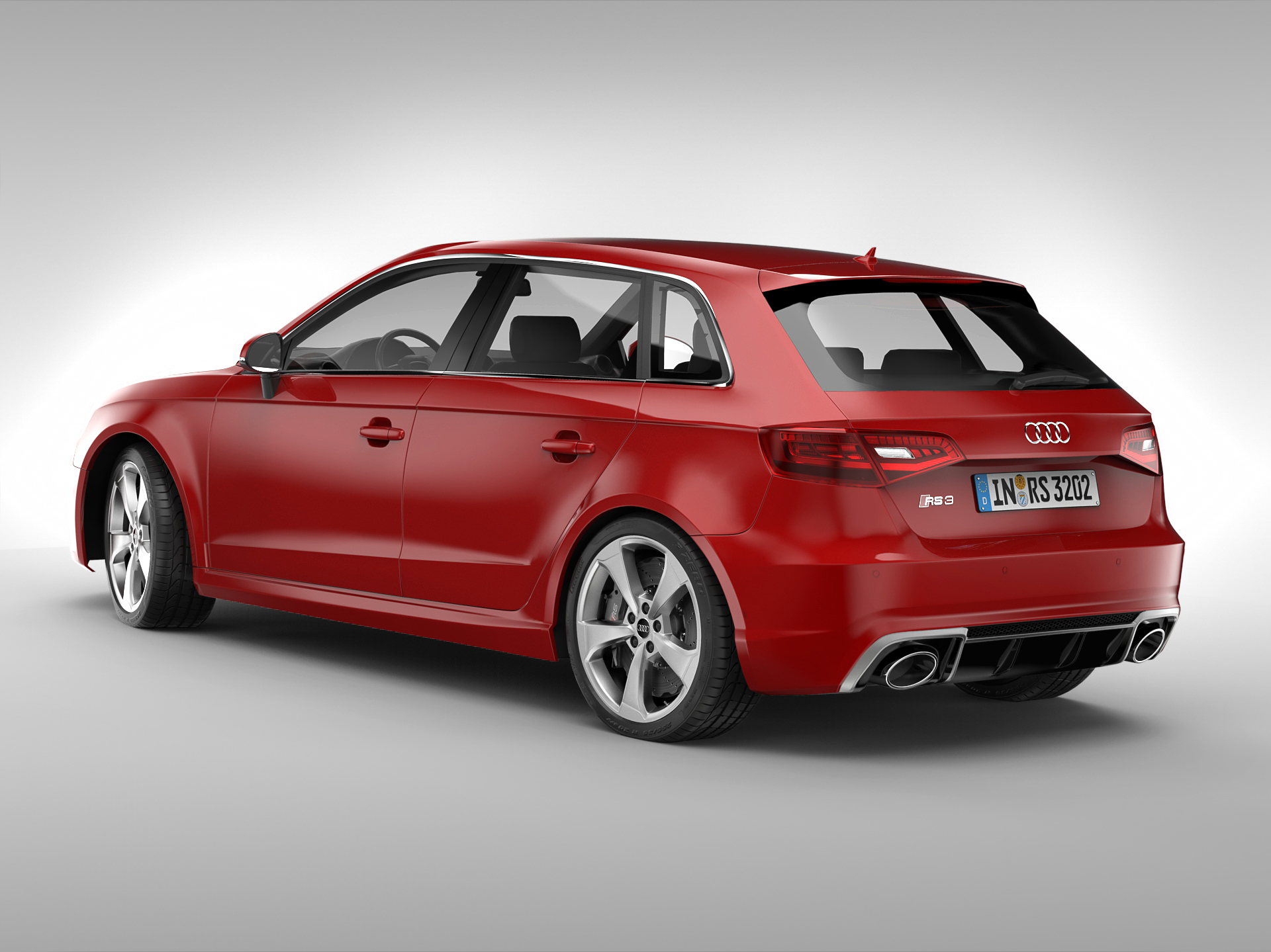 audi rs3 sportback 2016 3d model buy audi rs3 sportback 2016 3d model flatpyramid. Black Bedroom Furniture Sets. Home Design Ideas