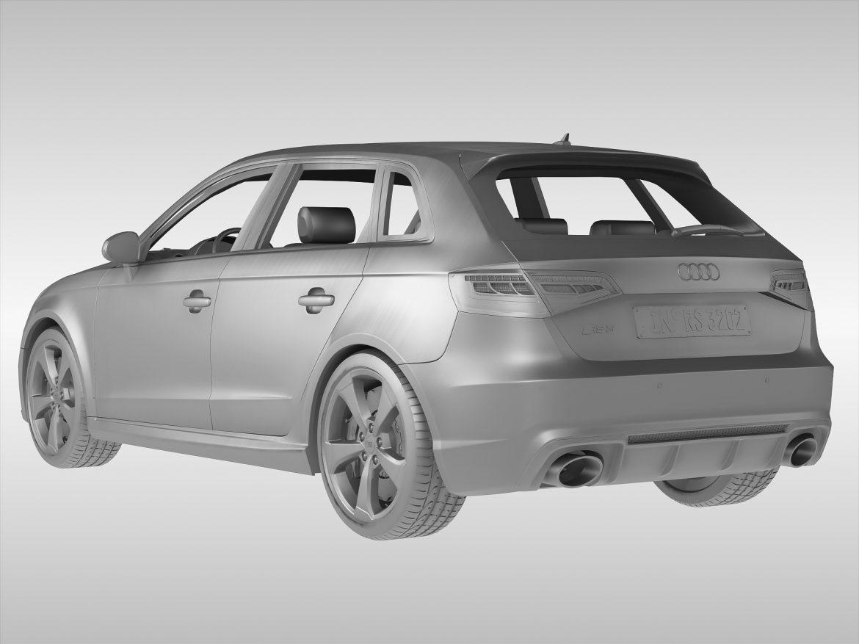 audi rs3 sportback (2016) 3d model 3ds max fbx obj 213145