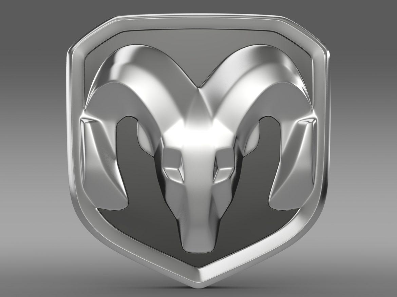 dodge ram logo 3d model 3ds max fbx c4d lwo ma mb hrc xsi obj 213221