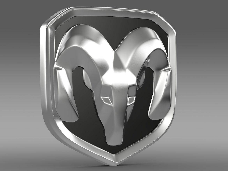 dodge ram logo 3d model 3ds max fbx c4d lwo ma mb hrc xsi obj 213222