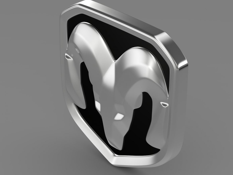 dodge ram logo 3d model 3ds max fbx c4d lwo ma mb hrc xsi obj 213223