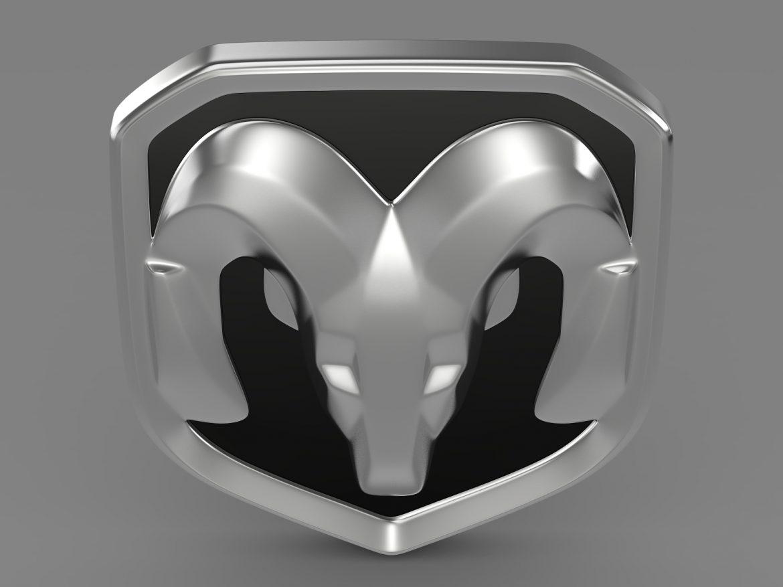 dodge ram logo 3d model 3ds max fbx c4d lwo ma mb hrc xsi obj 213224