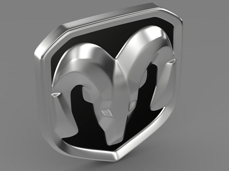 dodge ram logo 3d model 3ds max fbx c4d lwo ma mb hrc xsi obj 213225