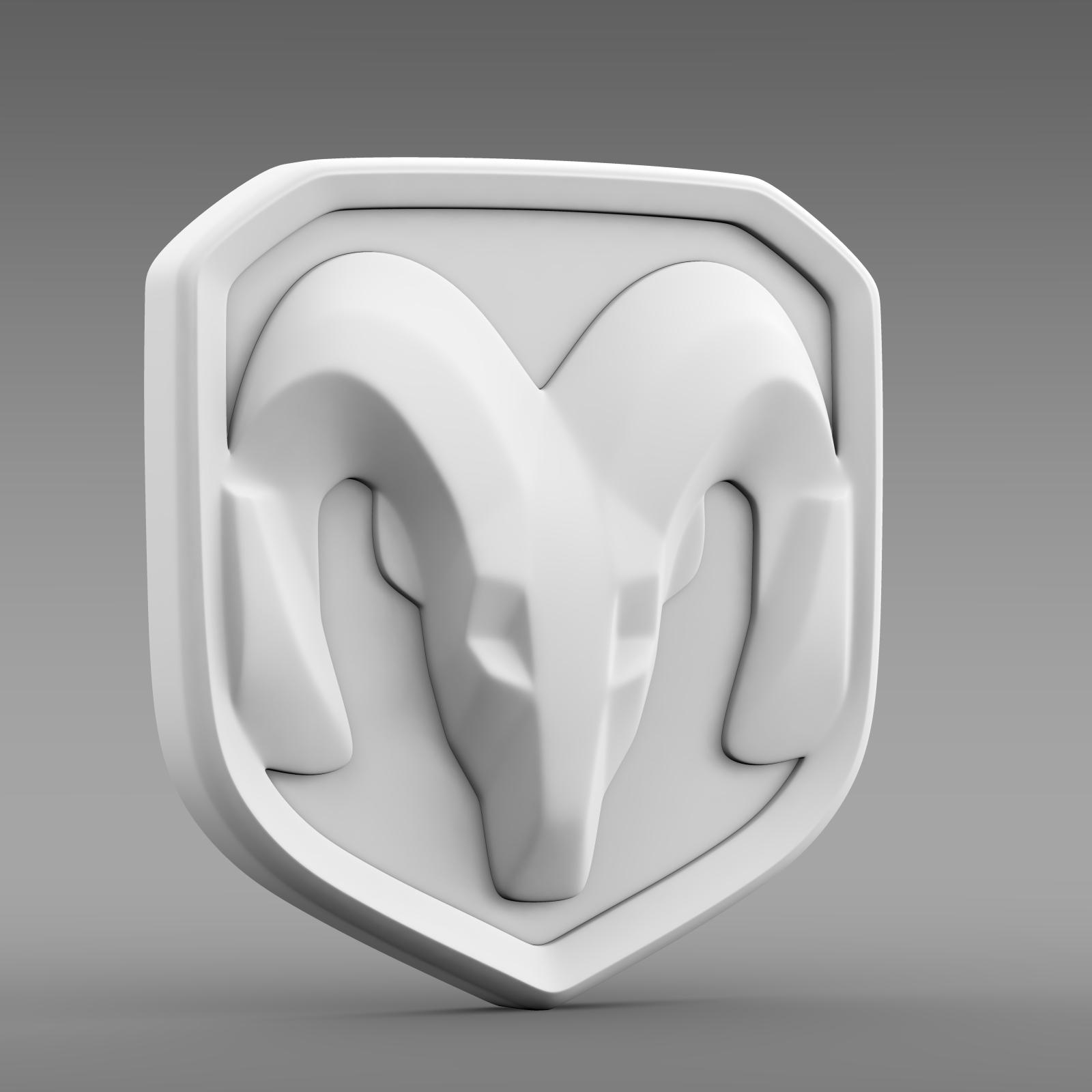 dodge ram logo 3d model 3ds max fbx c4d lwo ma mb hrc xsi obj 213228