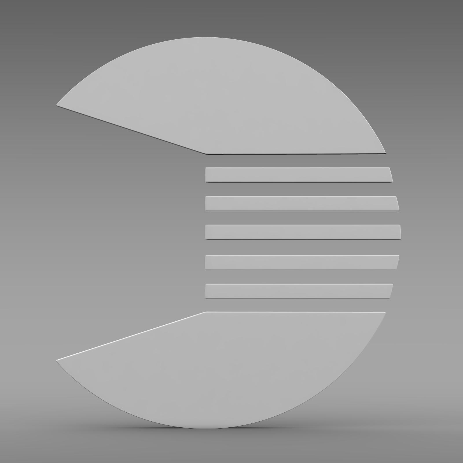 quant logo 3d model 3ds max fbx c4d lwo ma mb hrc xsi obj 213260