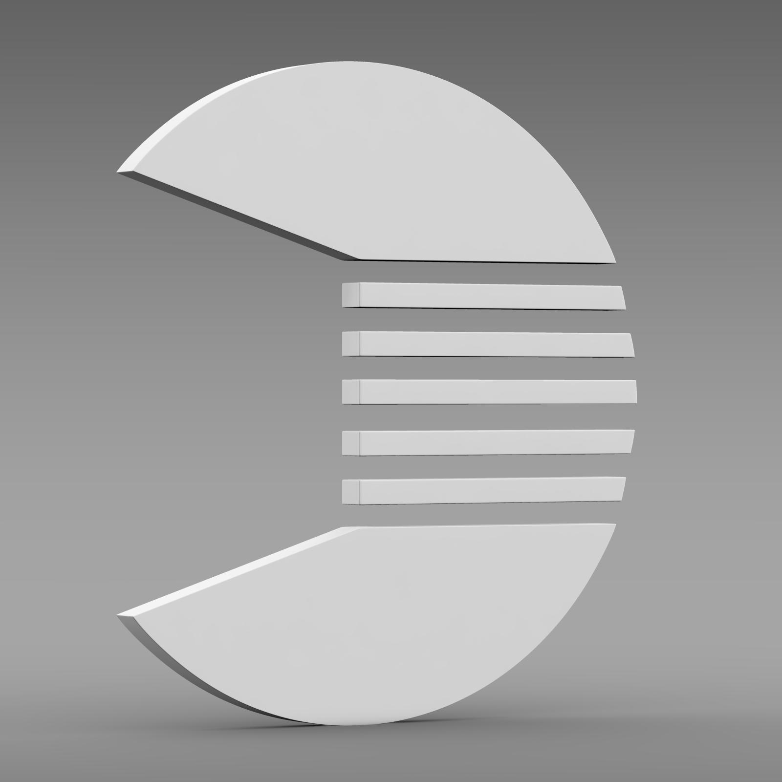quant logo 3d model 3ds max fbx c4d lwo ma mb hrc xsi obj 213261