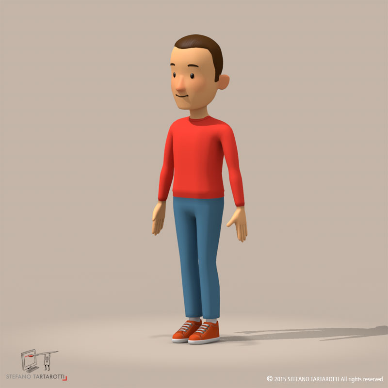 cartoon man 3d model 3ds dxf fbx c4d dae obj 213309