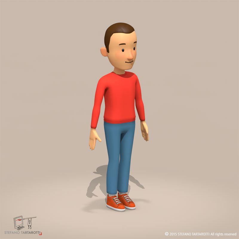 cartoon man 3d model 3ds dxf fbx c4d dae obj 213313