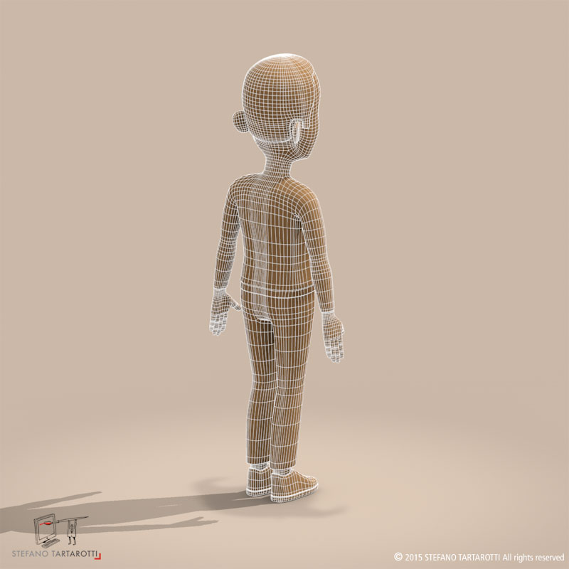 cartoon man 3d model 3ds dxf fbx c4d dae obj 213315