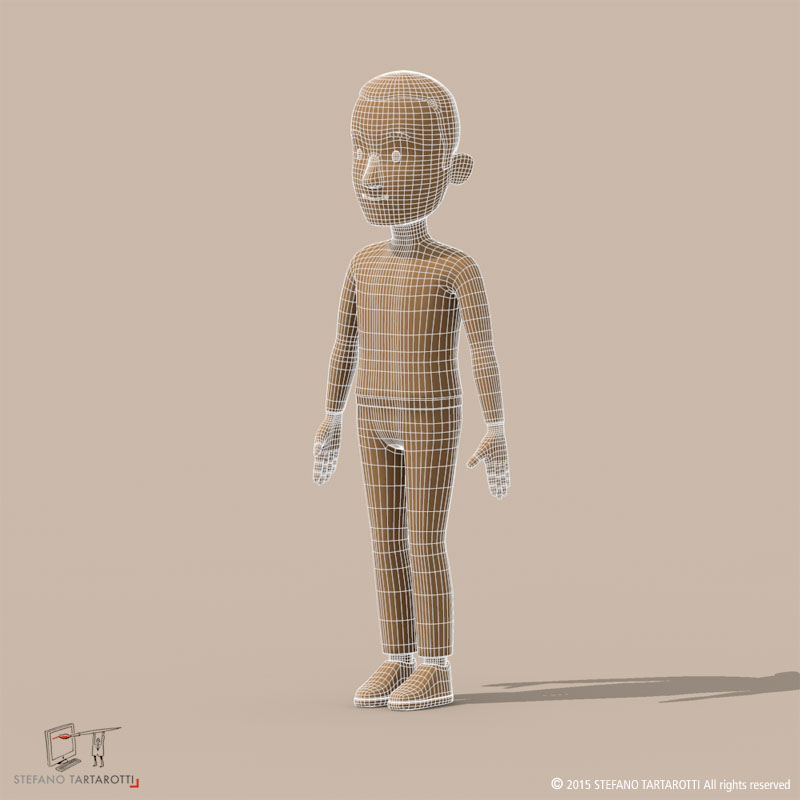 cartoon man 3d model 3ds dxf fbx c4d dae obj 213316