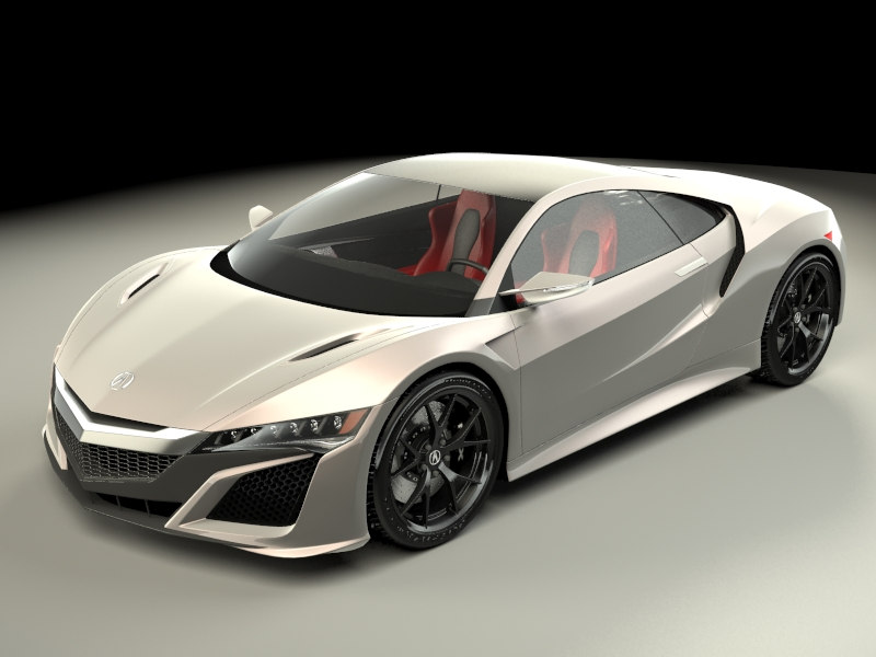 acura nsx 2015 3d model 3ds max fbx obj 213336