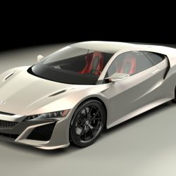 Acura NSX 2015 3d model 3ds max fbx obj