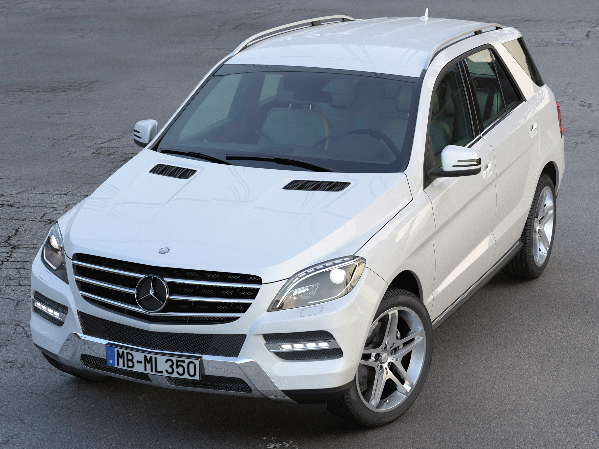 mercedes benz ml class 2013 3d model 3ds max fbx c4d obj 213347