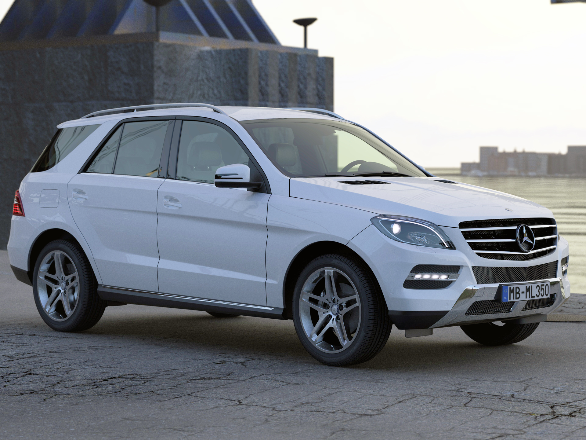 mercedes benz ml class 2013 3d model buy mercedes benz