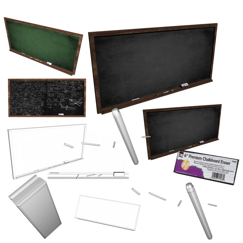 blackboard 3d model fbx 213368