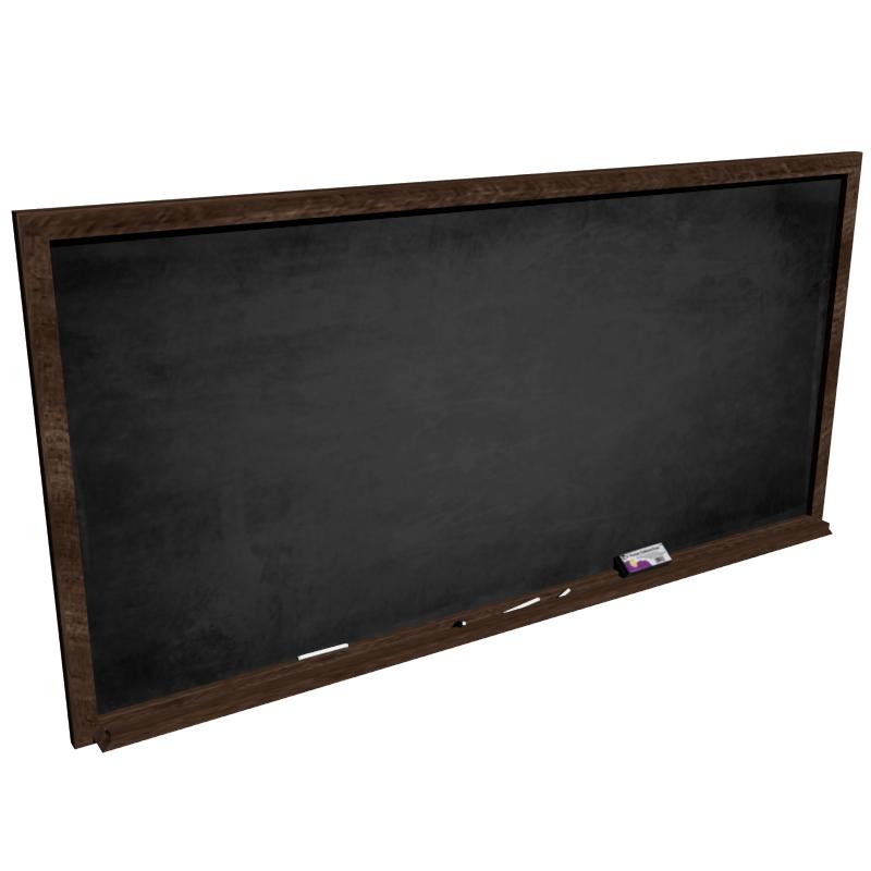 blackboard 3d model fbx 213369