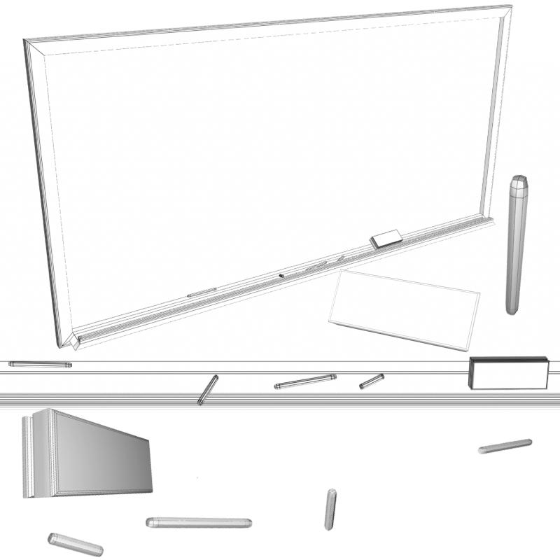 blackboard 3d model fbx 213370