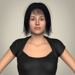 Realistic Beautiful Modern Woman 3d model 0