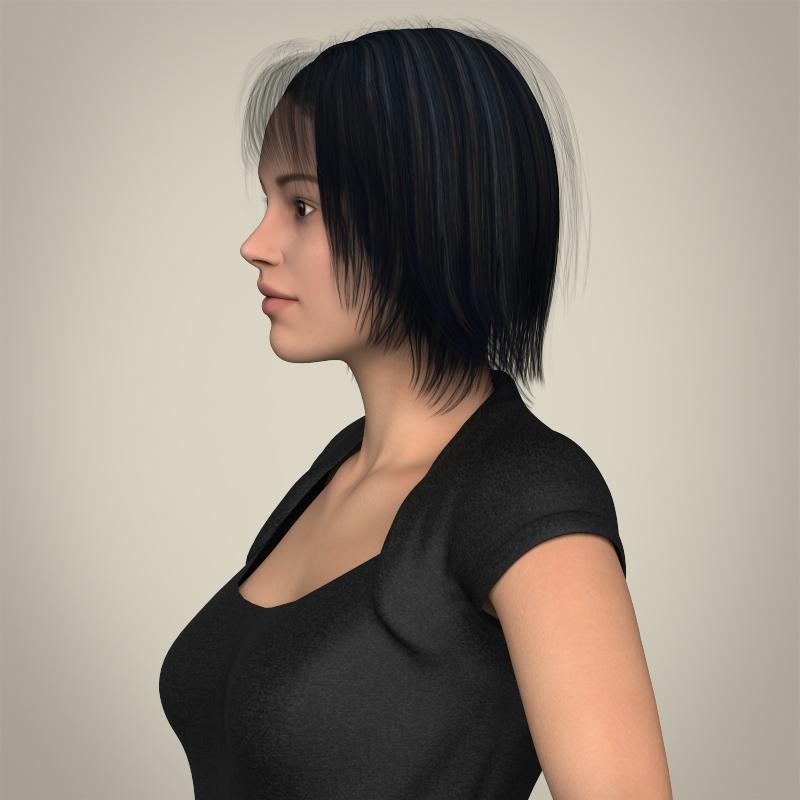 realistic beautiful modern woman 3d model 3ds max fbx c4d lwo ma mb texture obj 213378