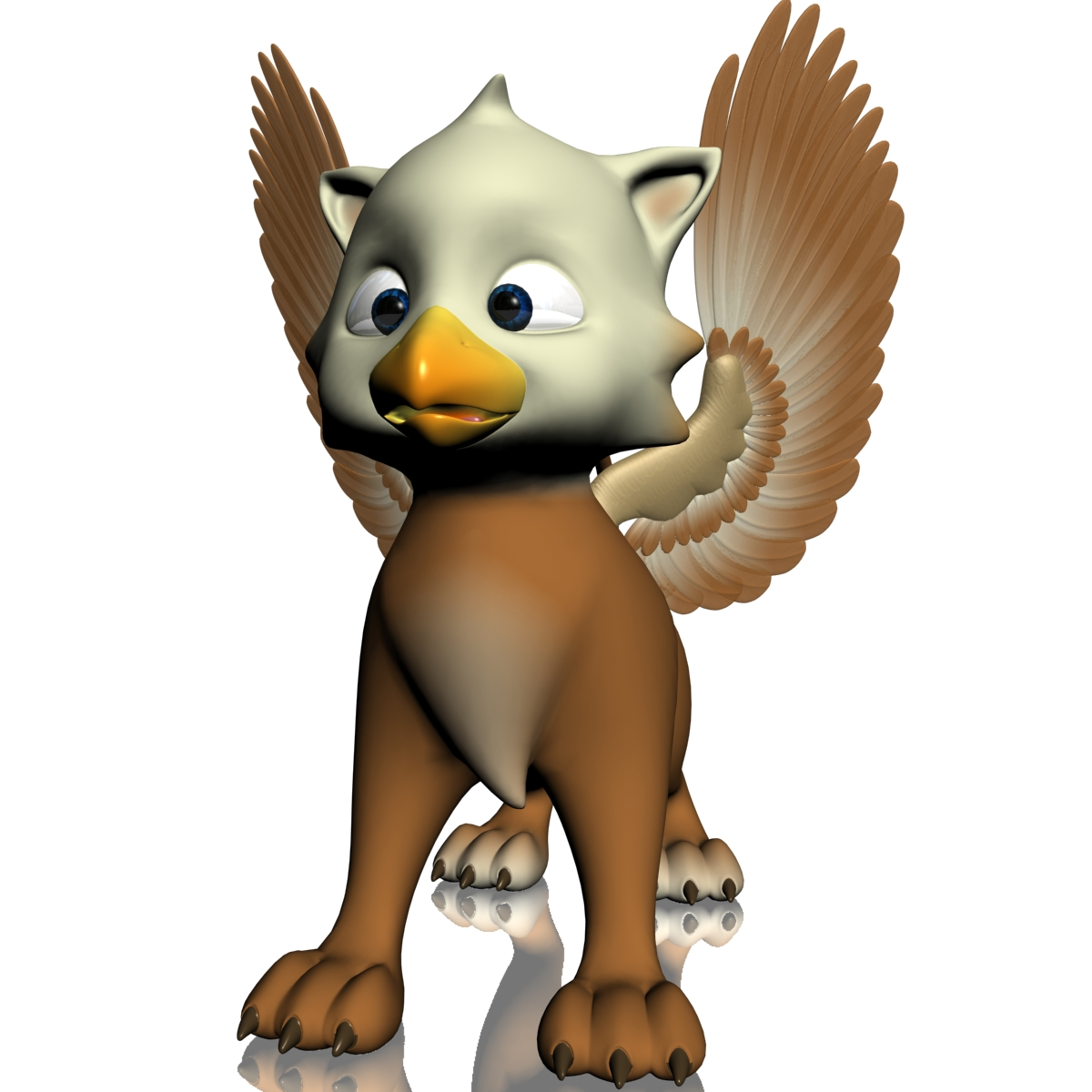 baby griffin rigged 3d model 3ds max fbx  obj 213418