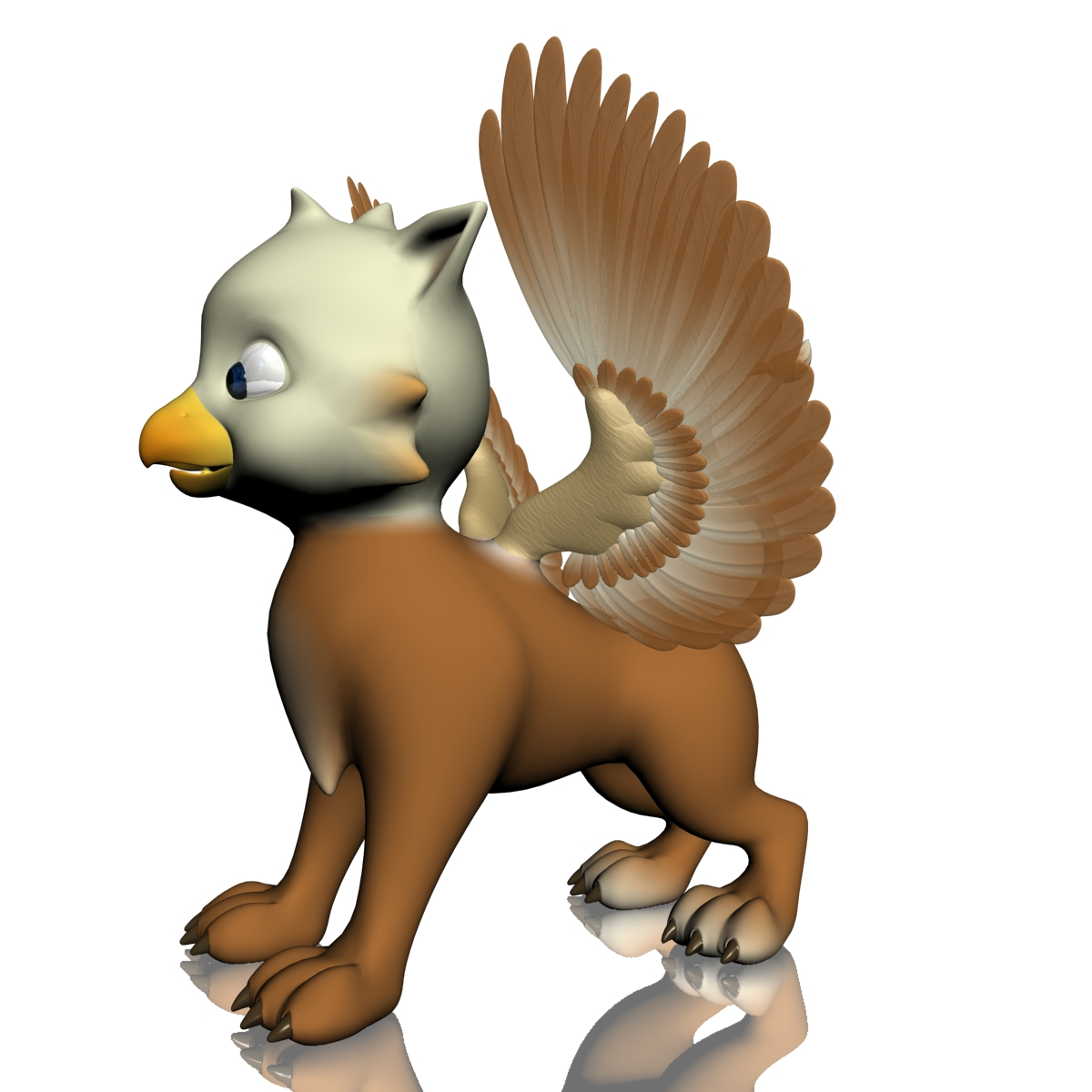 baby griffin rigged 3d model 3ds max fbx  obj 213419
