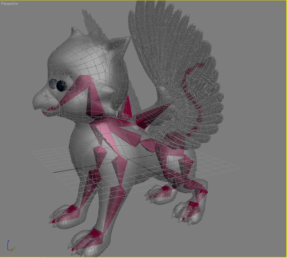 baby griffin rigged 3d model 3ds max fbx  obj 213423