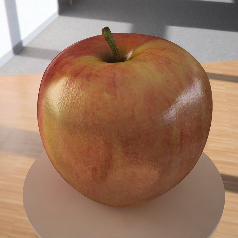 apple fruit 3d model max jpeg jpg obj 213470