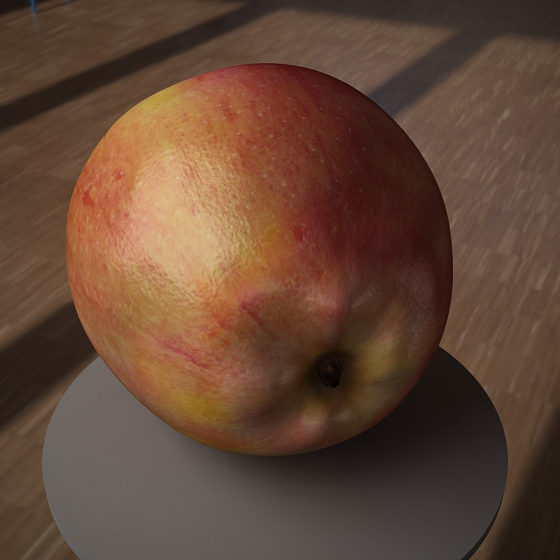 apple fruit 3d model max jpeg jpg obj 213476