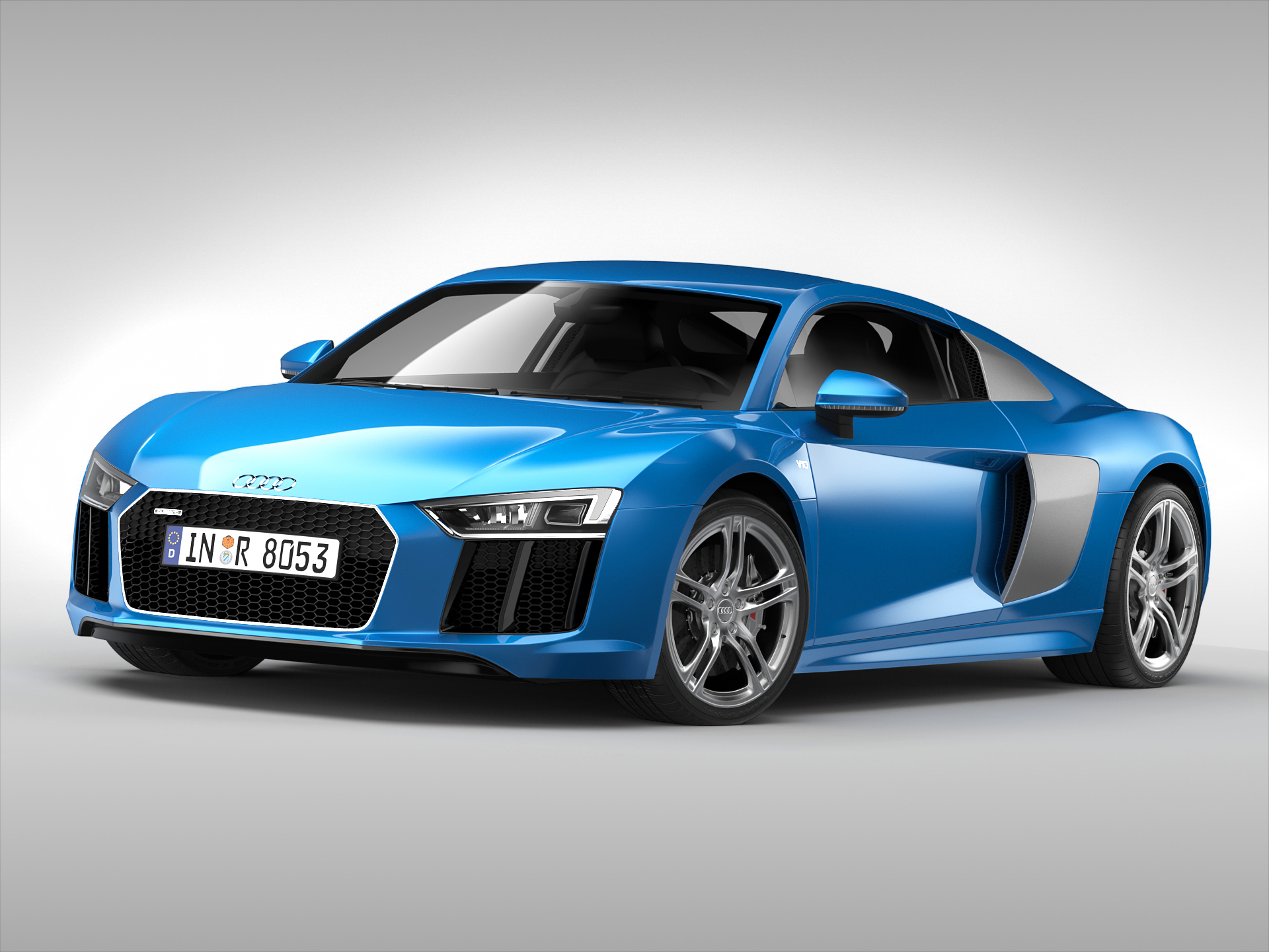 audi r8 v10 coupe (2016) 3d model 3ds max fbx obj 213481