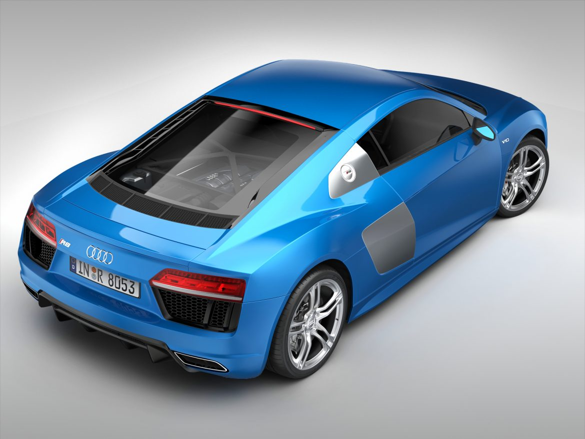 audi r8 v10 coupe (2016) 3d model 3ds max fbx obj 213483