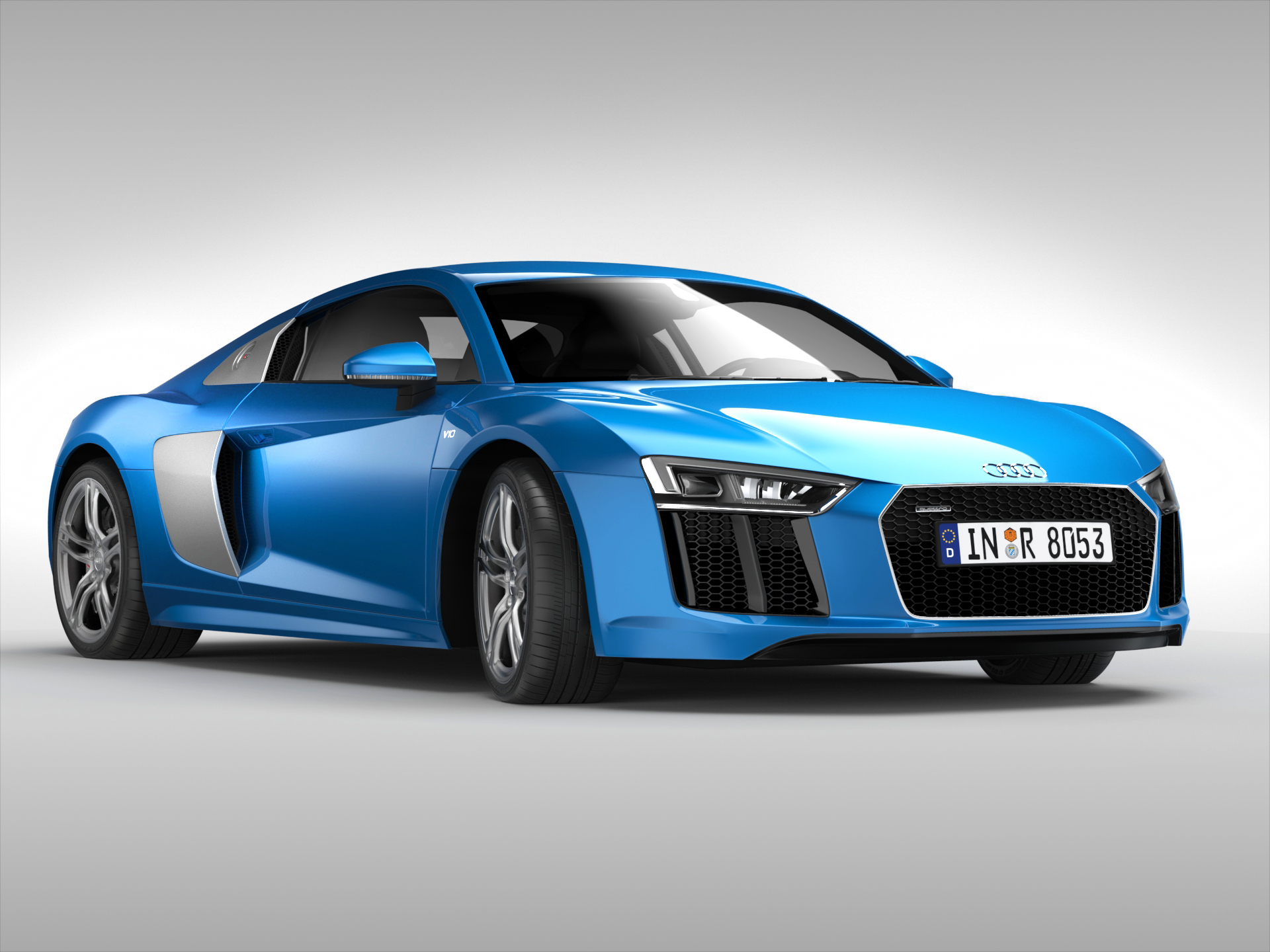 audi r8 v10 coupe 2016 3d model buy audi r8 v10 coupe. Black Bedroom Furniture Sets. Home Design Ideas