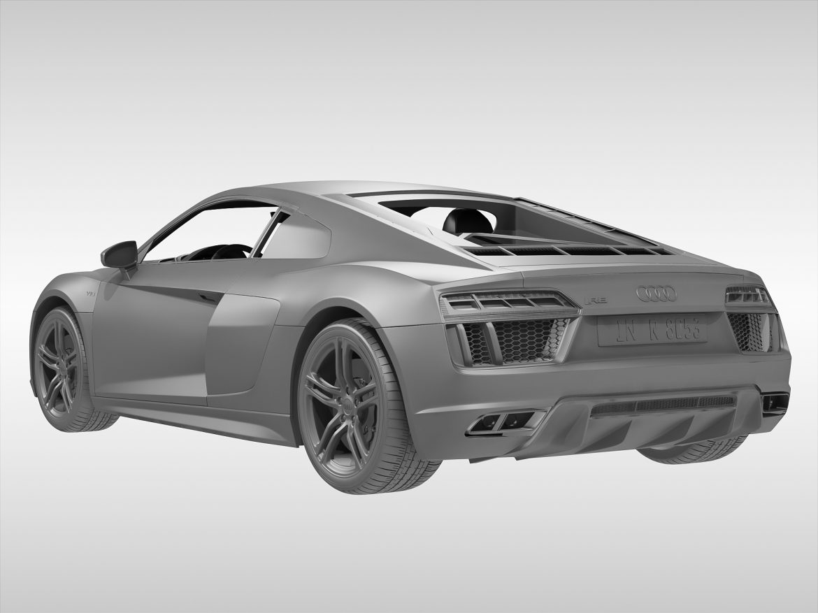audi r8 v10 coupe (2016) 3d model 3ds max fbx obj 213487