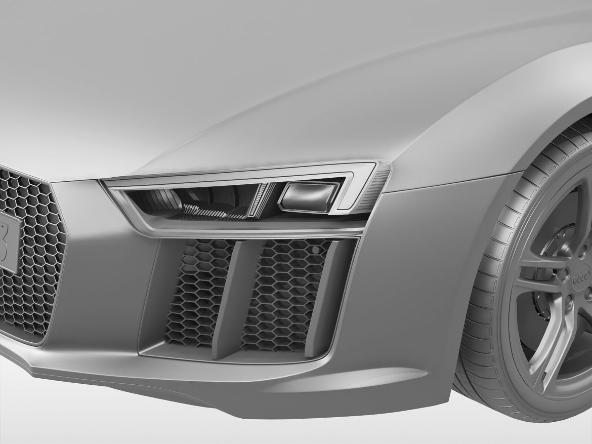 audi r8 v10 coupe (2016) 3d model 3ds max fbx obj 213489