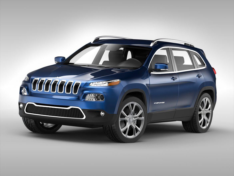 jeep cherokee (2014) 3d model 3ds max fbx obj 213493