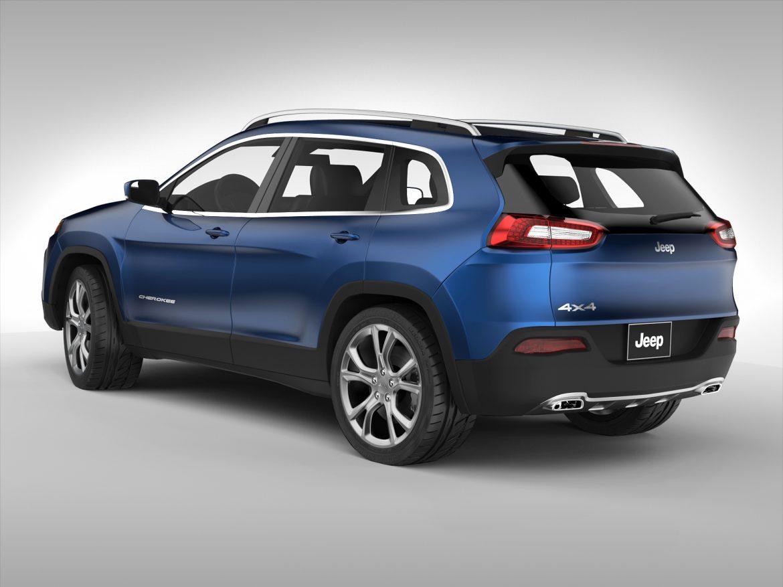 jeep cherokee (2014) 3d model 3ds max fbx obj 213494