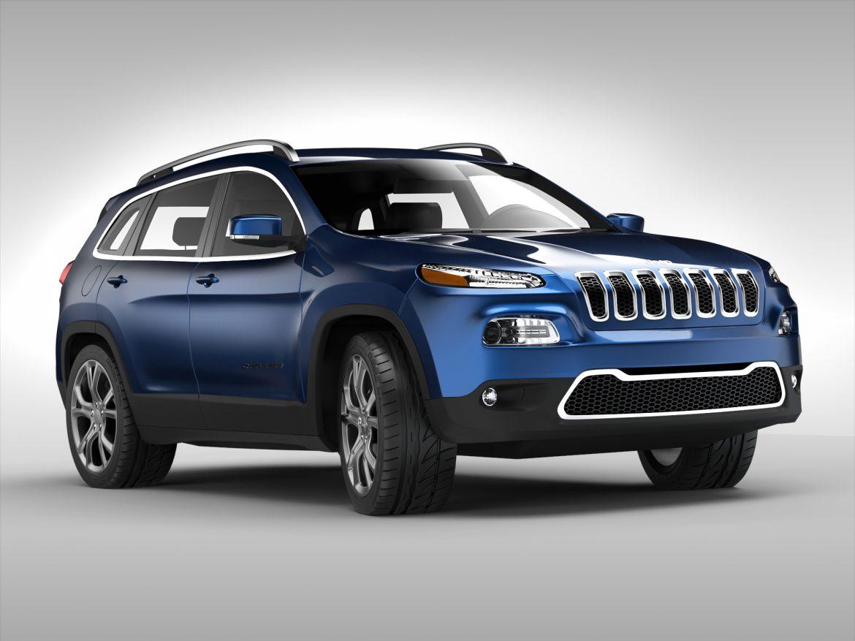 jeep cherokee (2014) 3d model 3ds max fbx obj 213496
