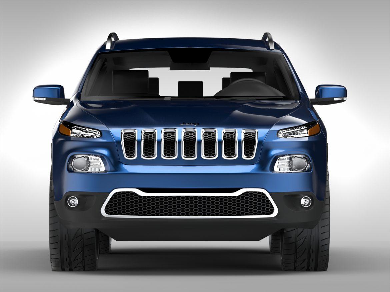 jeep cherokee (2014) 3d model 3ds max fbx obj 213497
