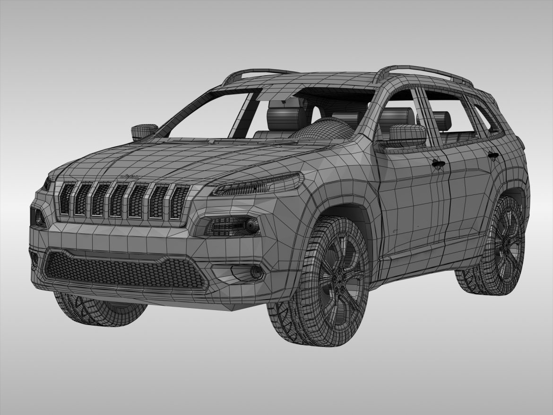 jeep cherokee (2014) 3d model 3ds max fbx obj 213500