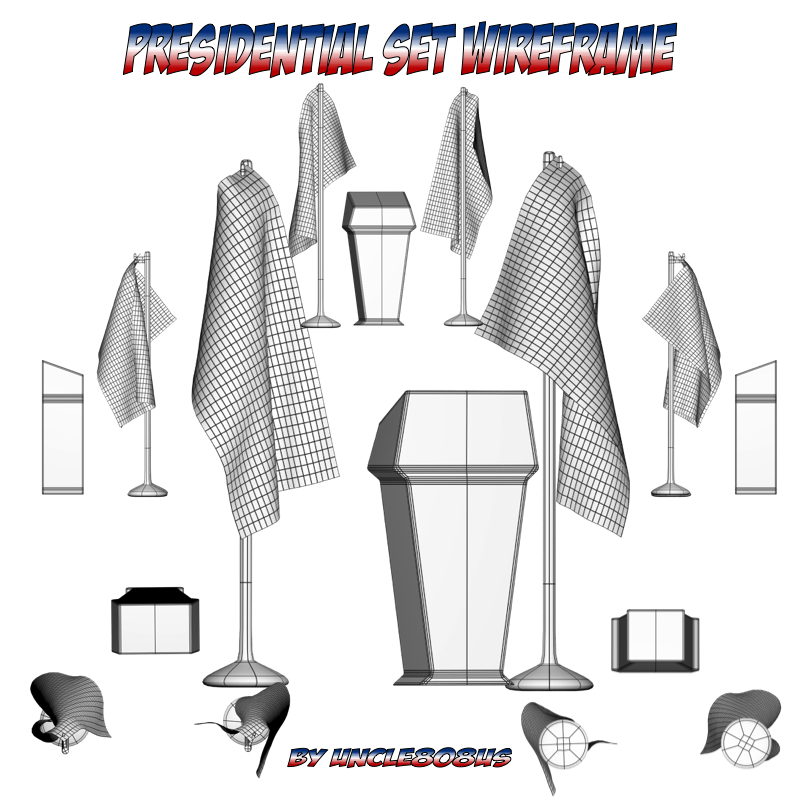 presidential set 3d model fbx obj 213505