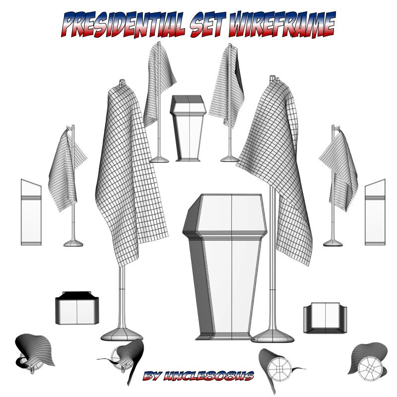 Presidential Set 3d model fbx obj