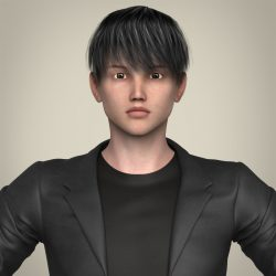 Realistic Young Handsome Boy 3d model 0